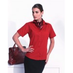 PR302 Ladies Short Sleeved Poplin Shirt