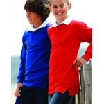 FR109 Children's Long Sleeved Plain Rugby Shirt